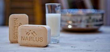 Nablus Olivové přírodní mýdlo Očistné mléko 100 g