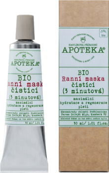 HAVLÍKOVA APOTEKA BIO Ranní maska čistící (3 minutová) - vzorek sáček 1ml - DÁREK ZDARMA při nákupu nad 500Kč