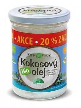 PURITY VISION kokosový olej panenský BIO 300ml + 20% ZDARMA