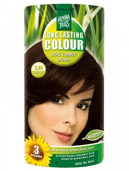 HennaPlus Dlouhotrvající barva Tmavě měděně hnědá 3.44