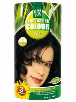 HennaPlus Dlouhotrvající barva Černá 1