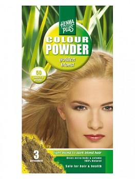 HennaPlus Přírodní barva prášková - Zlatá blond 50 - 100 gr.