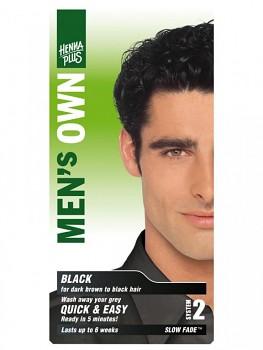 HennaPlus Přírodní barva pro muže - Černá
