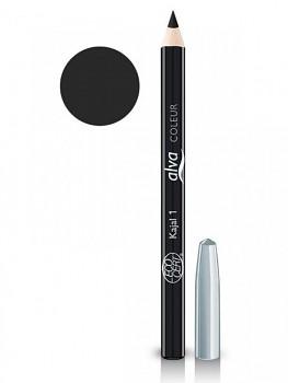 Alva Coleur Přírodní tužka na oči č.1 - černá