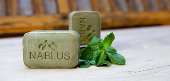 Nablus Olivové přírodní mýdlo Osvěžující máta 100 g