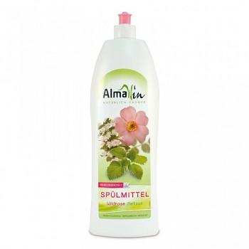 ALMAWIN Tekutý prostředek na nádobí Bio Divoká růže - Bio Meduňka 1 l