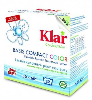 KLAR Prací prášek COLOR na barevné a jemné prádlo 1,375 kg