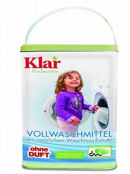 KLAR Prací prášek s extraktem z mýdlových ořechů v krásné plechové dóze 2,475kg