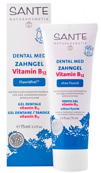 SANTE Zubní gel B12 bez fluoridu 75 ml