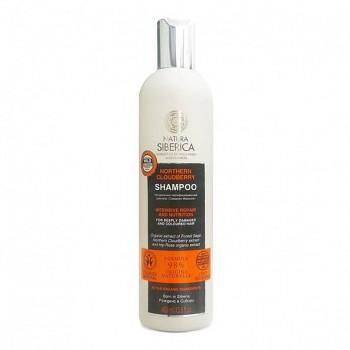 """NATURA SIBERICA Šampon pro silně poškozené a barvené vlasy """"Severní ostružiník moruška"""" 400 ml"""