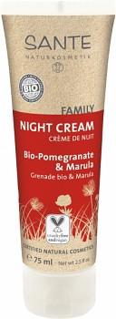 SANTE FAMILY Noční krém Bio Granátové jablko & Marula