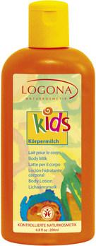 LOGONA KIDS Dětské pěstící mléko Broskvový kvítek