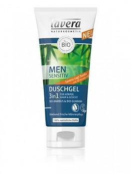 LAVERA Vlasový a tělový šampon pro muže 3v1 200ml