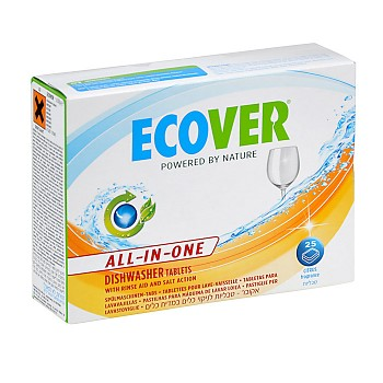 ECOVER Tablety do myčky 25ks - All in one